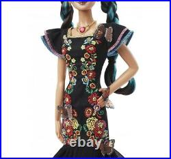 1 Barbie Day of The Dead Dia De Los Muertos DollSEALED & FAST FREE SHIPPING