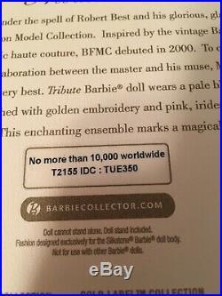10 Years Anniversary Tribute Silkstone Barbie Nrfb