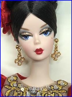 12 Mattel Barbie Doll Silkstone Fashion Model Russian Darya Barbie Gold COA MIB