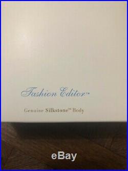 2000 Fao Schwarz Silkstone Barbie-fashion Editor- Ex Cond Nrfb