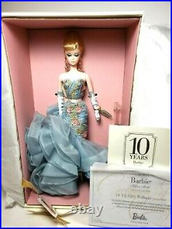 2010 Tribute Silkstone Fashion Model Barbie Doll 10 Yrs with Stand & COA T2155 NEW