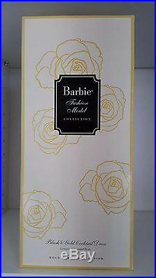 2017 BLUSH & GOLD COCKTAIL DRESS BARBIE Doll SILKSTONE POSABLE NRFB