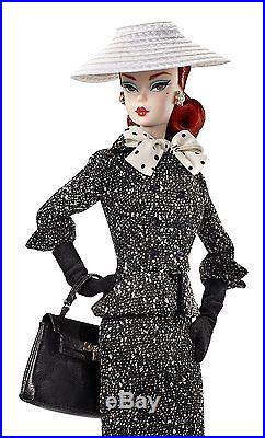2017 Barbie BFMC (#2) Fashion Model Black and White Tweed Suit Silkstone Doll