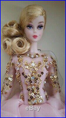 2017 Blush and Gold Cocktail Dress Silkstone Barbie Doll Gold Label #DWF55 NEW