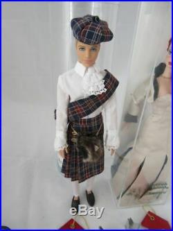 2017 Gaw Scottish Highlands Barbie Convention -silkstone Barbie + Ken And Event
