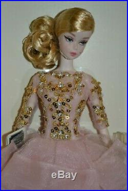 2017 Gold Label Silkstone BFMC BLUSH & GOLD COCKTAIL DRESS Barbie BRAND NEW