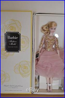 2017 Gold Label Silkstone BFMC BLUSH & GOLD Cocktail Dress Barbie NEW