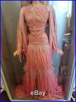 2017 NRFB Barbie Collector Blush Fringed Gown Platinum Label Doll LE 999