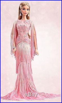 2017 NRFB Blush Fringed Gown Barbie Doll Silkstone Platinum Label sealed shipper