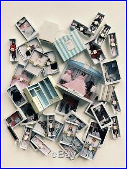 36 BFMC Silkstone Barbie Miniatures with the Display Case and Wardrobe