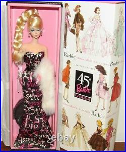 45th Anniversary Blonde Silkstone Fashion Model Barbie Doll #B8955 NRFB 2003