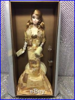 50th Anniv Silkstone Golden Gala Barbie Doll 2009 Gold Labeln6620 Mint Nrfb