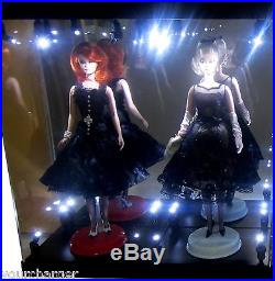 Acrylic Display Case LED Light Box for TWO Silkstone Barbie Fashion Model Doll