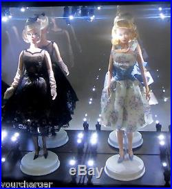 Acrylic Display Case LED Light Box for TWO Silkstone Barbie Fashion Model Doll
