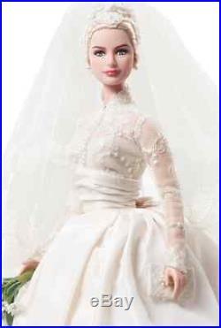 American Actress Silkstone Princess Grace Kelly Of Monaco Bride Barbie Doll