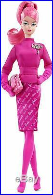 BARBIE 60th ANNIVERSARY PROUDLY PINK POSABLE DOLL, NEW, NRFB, GOLD LABEL, RARE