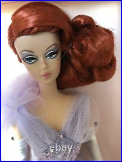 BFMC Silkstone Lavender Luxe Red Haired Barbie Doll With Taffeta Organza Gown
