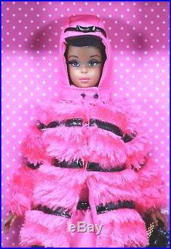 BLACK Francie Fuchsia N Fur SILKSTONE IN SHIPPER GOLD LABEL NBFB NIB