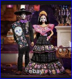 Barbie And Ken Dia De Los Muertos Doll 2021 Day Of The Dead In Hand, Ships Asap