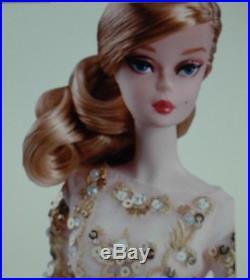 Barbie Blush And Gold Cocktail Dress Silkstone Fashion Model In Original Tissue