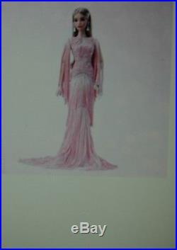 Barbie Blush Fringed Gown Platinum Label Platinum Membership Exclusive Shipper