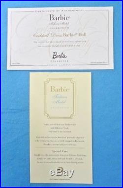 Barbie Cocktail Dress Silkstone Doll Gold Label Coleccion G8253 Mattel Fashion