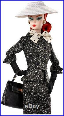 Barbie Collector BFMC Black and White Tweed Suit Doll Toy Gift