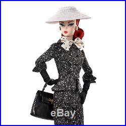 Barbie Collector Barbie Fashion Model Collection Black White Tweed Suit Doll