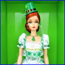 Barbie Collector Shamrock Celebration Gold Label Silkstone Doll Barbie Fan Club