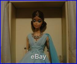 Barbie Doll Blue Chiffon Gown Aa Robert Best Designer Silkstone Mint