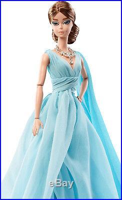Barbie Fashion Model Collection Blue Chiffon Ball Gown Barbie Doll