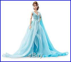 Barbie Fashion Model Collection Blue Chiffon Ball Gown Barbie Doll Japan