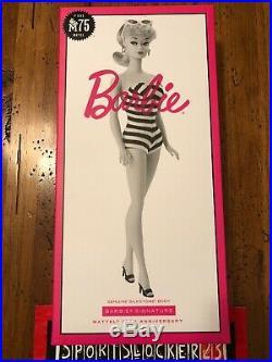 Barbie Mattel 75th Anniversary Silkstone Body Classic1959 In Hand Ships Fast