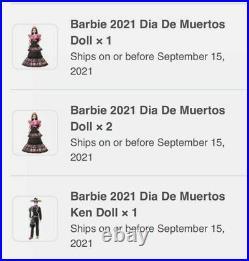 Barbie Signature 2021 Ken Dia De Muertos Day Of The Dead IN HAND