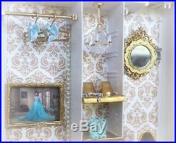 Barbie Silkstone Ave Blue Chiffon Dress Boutique BFMC Fashion Model Doll Diorama