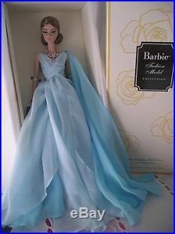Barbie Silkstone Blue Chiffon Ball Gown, Ref Dyx74 2017