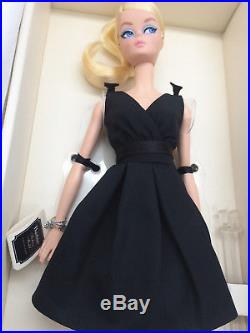 Barbie Silkstone Classic Black Dress Blond Articulated Body Gold Label NRFB