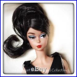 Barbie Silkstone Classic Black Dress Brunette Jointed Doll Nib In Stock