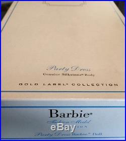 Barbie Silkstone Fashion Model Doll Party Dress Gold Label NRFB