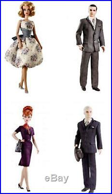 Barbie Silkstone Mad Men Complete Set Of 4 Betty Roger