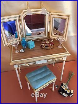 Barbie Silkstone vanity & bench set VHTF Please Read Description