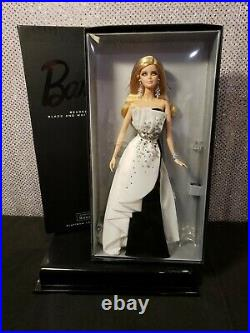 Beaded Gown Barbie Doll Platinum Label Black White Collection Mattel X8266 Nrfb