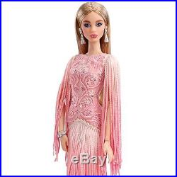 Blush Fringed Gown Barbie Doll Platinum label 2017-IN HAND & READY TO SHIP