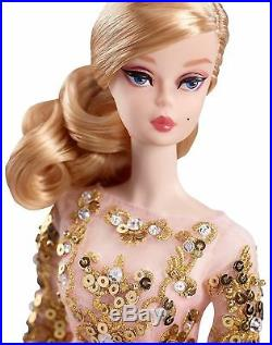 Blush and Gold Cocktail Dress Silkstone Barbie- NRFB & Mint in MInt Box