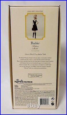 CLASSIC BLACK DRESS 2016 SILKSTONE Barbie POSEABLE Gold Label BFMC DKN07 NRFB