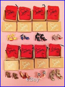 Christian Louboutin Barbie Shoes Collection 2010 Lot of 8 Pairs MIB Silkstone