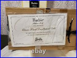 Classic Black Dress Brunette Silkstone Barbie Doll 2016 Gold Label Mattel Dwf53