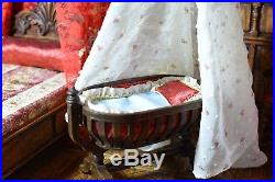 Doll Furniture Baby Bed Crib with Beding 1/6 scale Barbie Silkstone Royalty