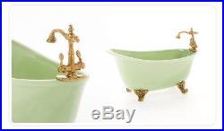 Doll Furniture Ceramic Bathtub Green 16 scale Silkstone Barbie