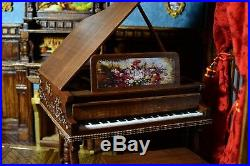 Doll Furniture Grand Piano & Bench 1/6 scale Barbie Silkstone Royalty